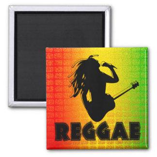 Imanes cuadrados jamaicanos de Rasta Rastafarian Imán
