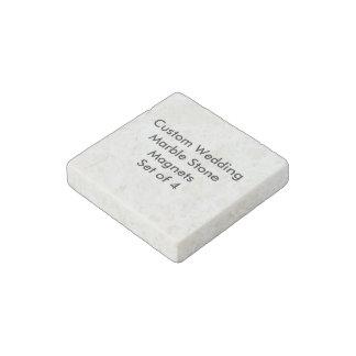Imanes de encargo de la piedra del mármol del boda imán de piedra