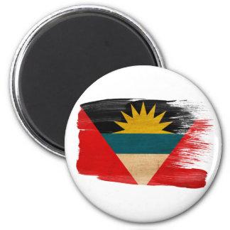 Imanes de la bandera de Antigua y de Barbuda Imán Redondo 5 Cm