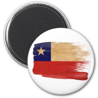 Imanes de la bandera de Chile Imán Redondo 5 Cm