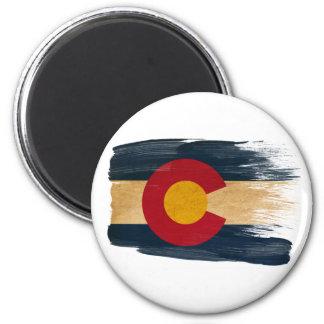 Imanes de la bandera de Colorado Imán Redondo 5 Cm