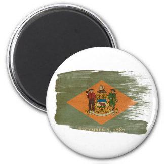 Imanes de la bandera de Delaware Imán De Nevera