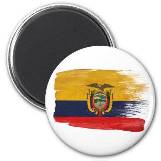 Imanes de la bandera de Ecuador Imán Redondo 5 Cm
