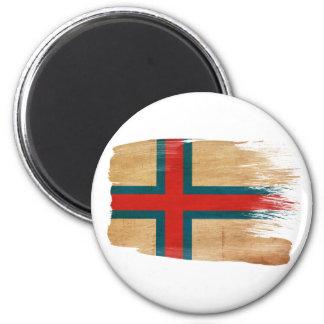 Imanes de la bandera de Faroe Island Imán Redondo 5 Cm