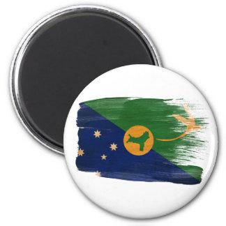 Imanes de la bandera de la Isla de Navidad Imán Redondo 5 Cm