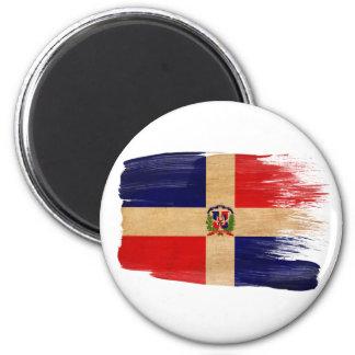 Imanes de la bandera de la República Dominicana Imán Redondo 5 Cm