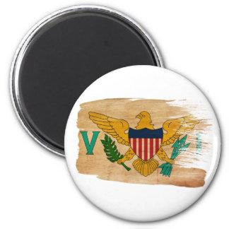 Imanes de la bandera de las Islas Vírgenes Imán Redondo 5 Cm