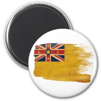 Imanes de la bandera de Niue Imán Redondo 5 Cm