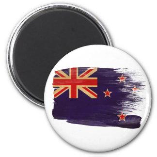 Imanes de la bandera de Nueva Zelanda Imán Redondo 5 Cm
