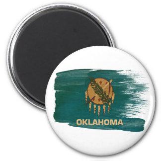 Imanes de la bandera de Oklahoma Imán Redondo 5 Cm
