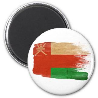 Imanes de la bandera de Omán Imán Redondo 5 Cm