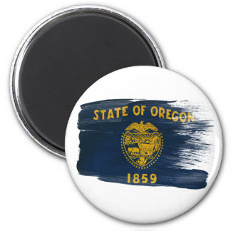 Imanes de la bandera de Oregon