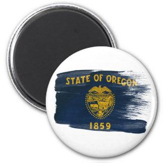Imanes de la bandera de Oregon Imán Redondo 5 Cm