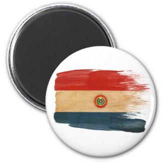Imanes de la bandera de Paraguay Imán Redondo 5 Cm