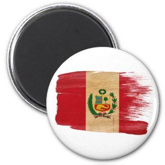 Imanes de la bandera de Perú Imán Redondo 5 Cm