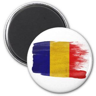 Imanes de la bandera de República eo Tchad Imán Redondo 5 Cm