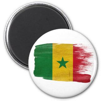 Imanes de la bandera de Senegal Imán Redondo 5 Cm