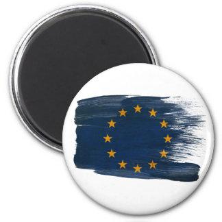 Imanes de la bandera de unión europea imán redondo 5 cm