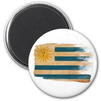 Imanes de la bandera de Uruguay Imán Redondo 5 Cm