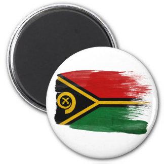 Imanes de la bandera de Vanuatu Imán Redondo 5 Cm