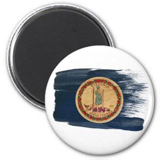 Imanes de la bandera de Virginia Imán Redondo 5 Cm