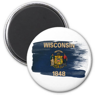 Imanes de la bandera de Wisconsin