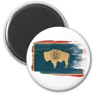 Imanes de la bandera de Wyoming Imán Redondo 5 Cm