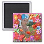 Imanes del cumpleaños: 003 mariposas y flores