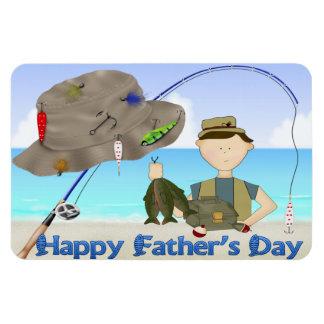 Imanes flexibles del día de padre de la pesca