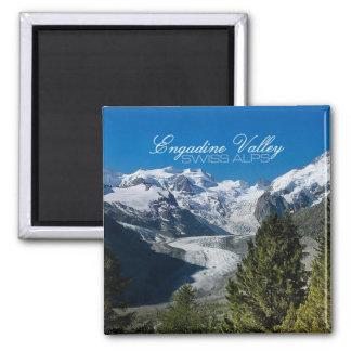Imanes suizos del recuerdo de las montañas de la f imán de frigorifico