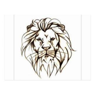 IMG_7779.PNG brave diseño del león Postal