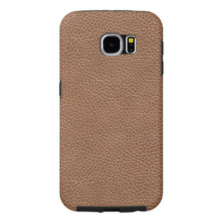 Imitación de cuero Brown natural Funda Samsung Galaxy S6