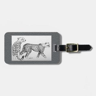 Imitación de cuero del gris de la bella arte de etiqueta para maletas