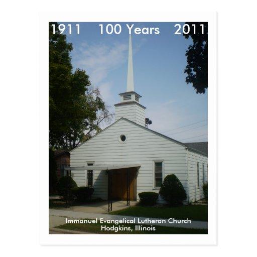 Immanuel 100 años tarjeta postal