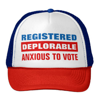 Impaciente por deplorable registrado votar gorra