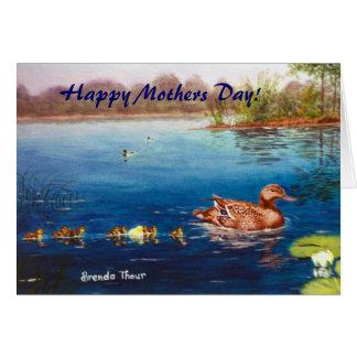 ¡Impar duck hacia fuera, día de madres feliz! Tarjeta De Felicitación
