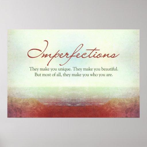 Imperfecciones. Le hacen único… Impresiones