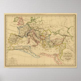 Imperio romano debajo de Constantina y de Trajan Póster