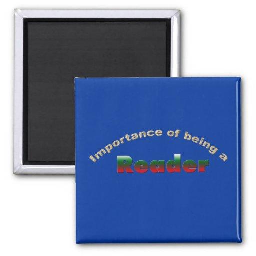 Importancia de ser lector imán de frigorifico