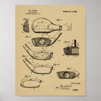 Impresión 1920 del arte de la patente de diseño de