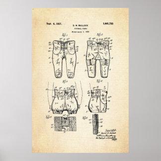Impresión 1927 de la patente de los pantalones del