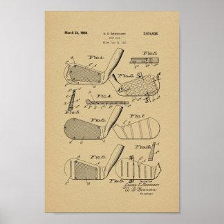 Impresión 1936 del arte de la patente del club de