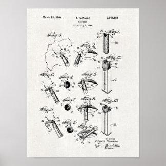 Impresión 1944 de la patente del lápiz labial