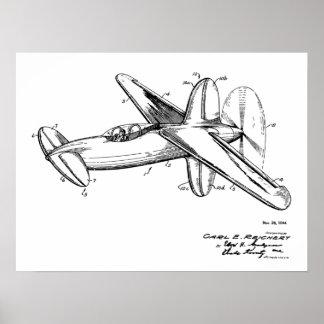 Impresión 1944 del dibujo del arte de la patente