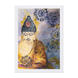 Impresión 24x18 de la lona de la acuarela de Buda