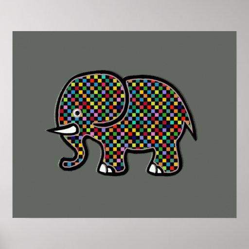 Impresi n a cuadros del elefante para las paredes p ster - Posters para pared ...