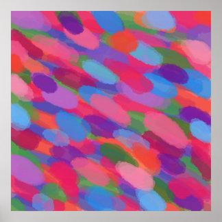 Impresión abstracta colorida del poster de la