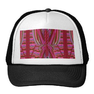 Impresión abstracta colorida torcida barata de la gorras