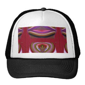Impresión abstracta colorida torcida barata de la gorra
