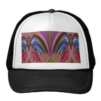 Impresión abstracta colorida torcida barata de la gorro de camionero